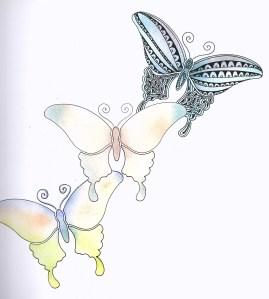 Stencil butterflies